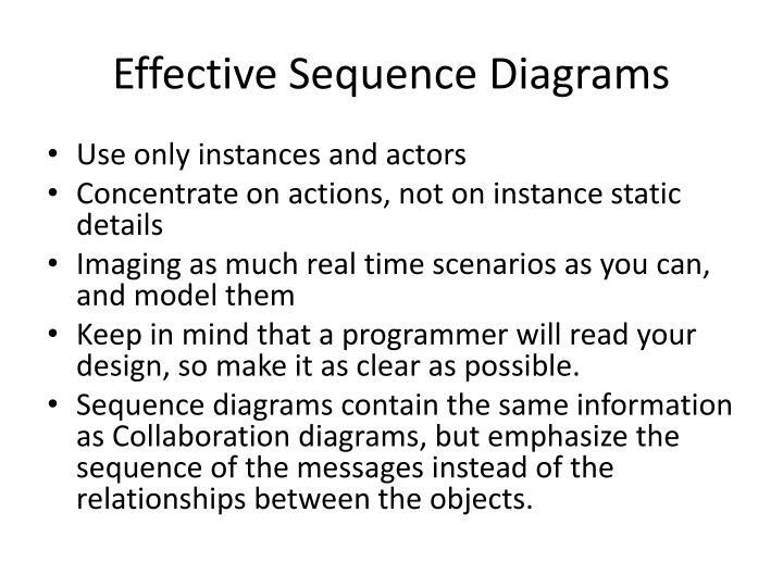 Effective Sequence Diagrams