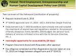 poland third employment entrepreneurship and human capital development policy loan 2010