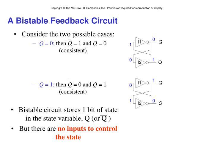 A Bistable Feedback Circuit