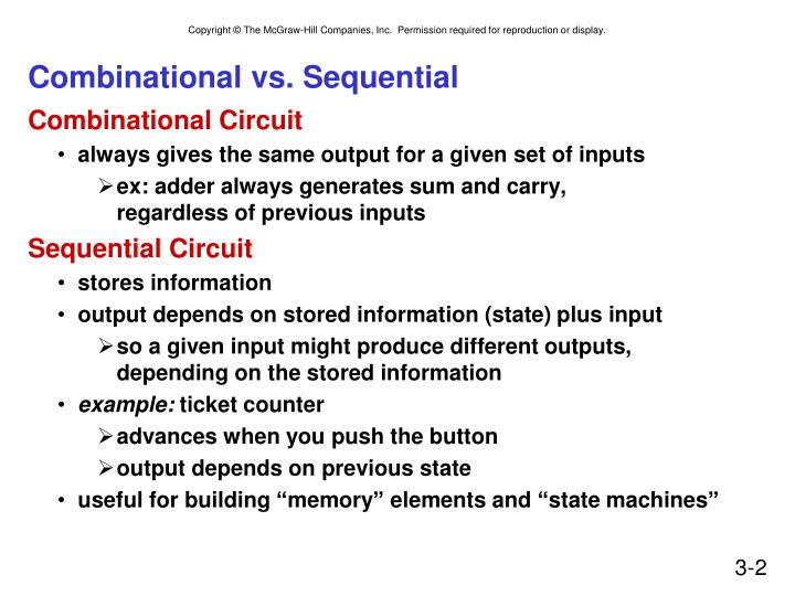 combinational vs sequential