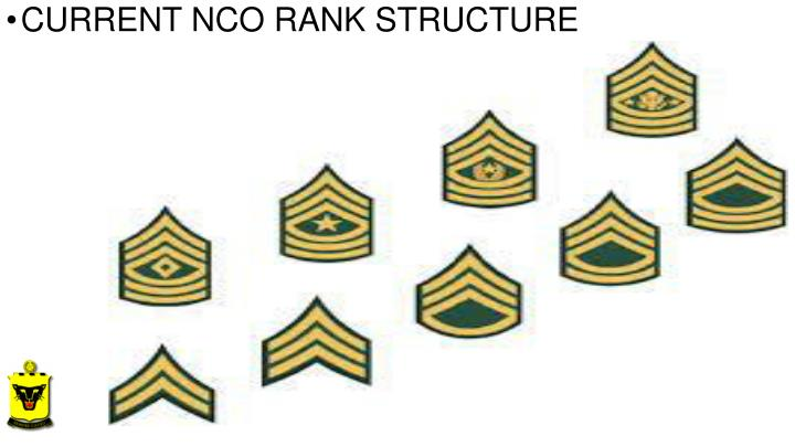 CURRENT NCO RANK STRUCTURE