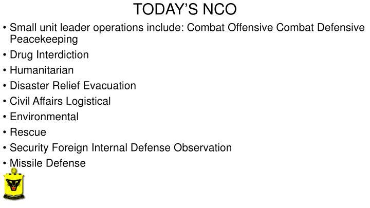 TODAY'S NCO