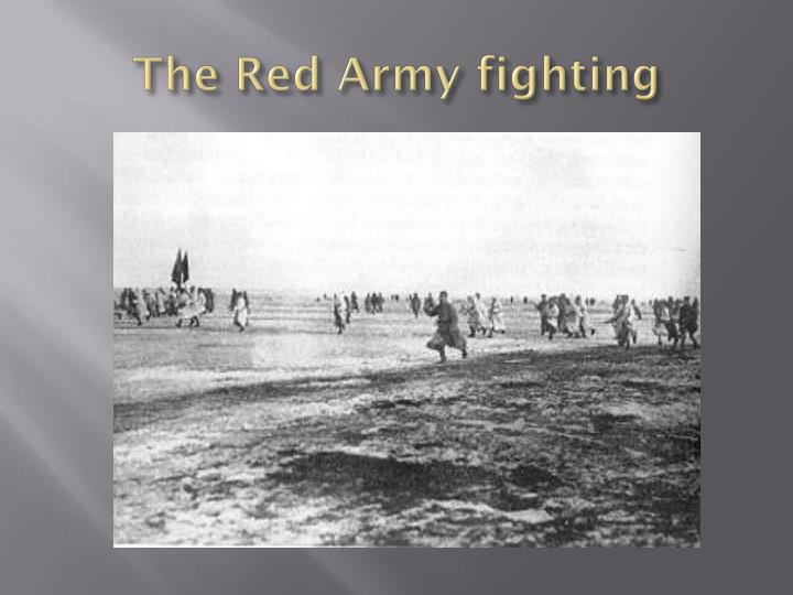 The Red Army fighting