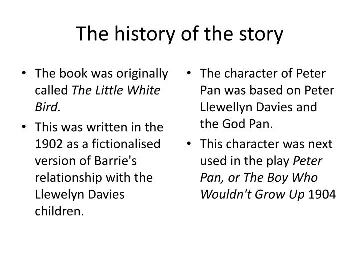 The history of the story