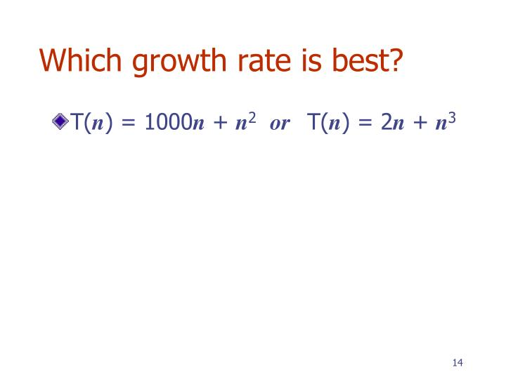 Which growth rate is best?