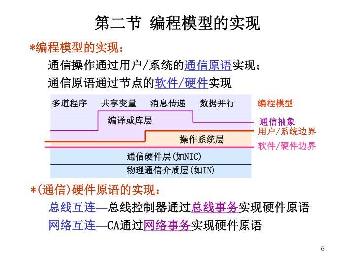 第二节 编程模型的实现