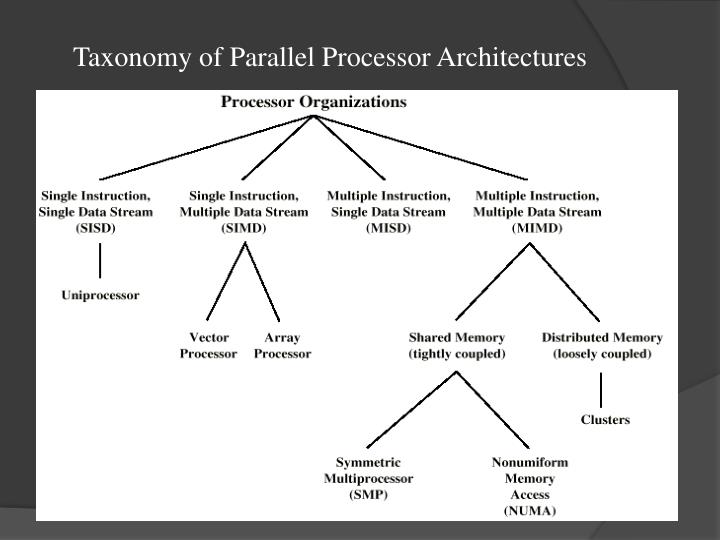Taxonomy of Parallel Processor Architectures
