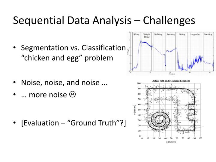 Sequential Data Analysis – Challenges