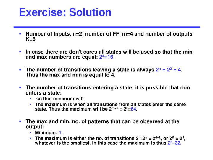 Exercise: Solution