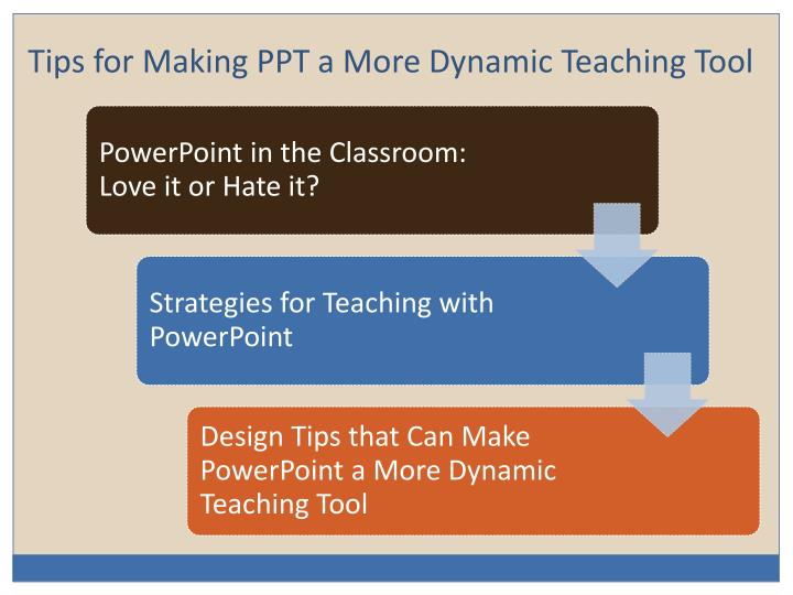 Tips for Making PPT a More Dynamic Teaching Tool