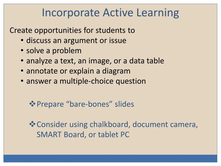 Incorporate Active Learning