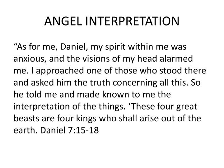 ANGEL INTERPRETATION