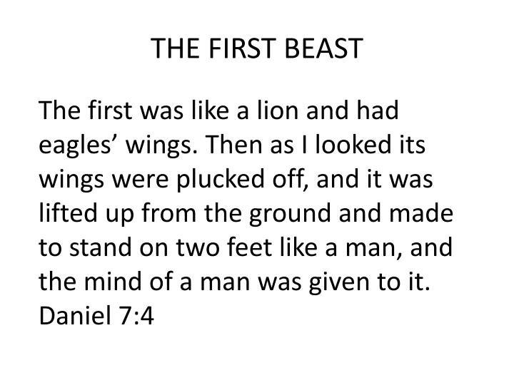 THE FIRST BEAST