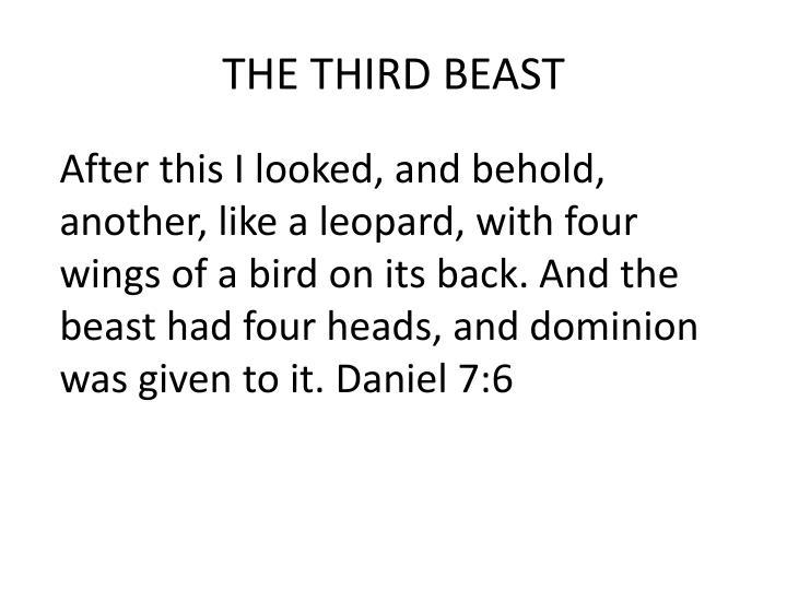 THE THIRD BEAST