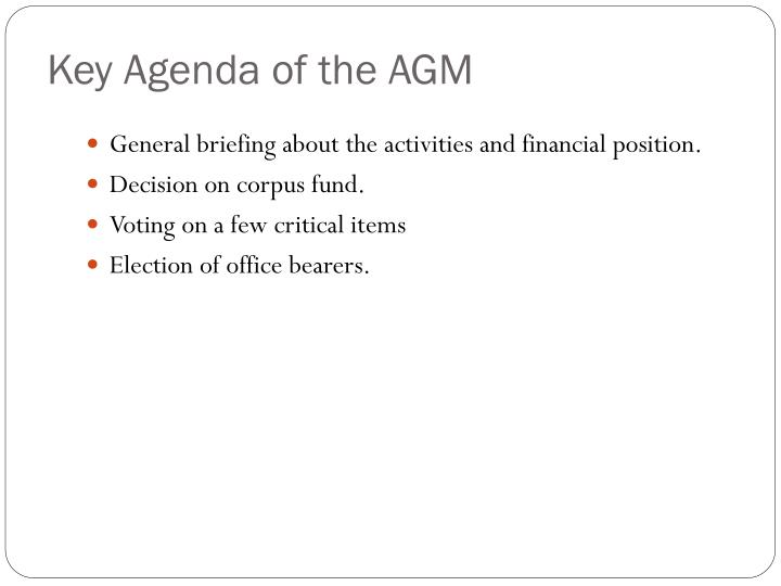 Key agenda of the agm