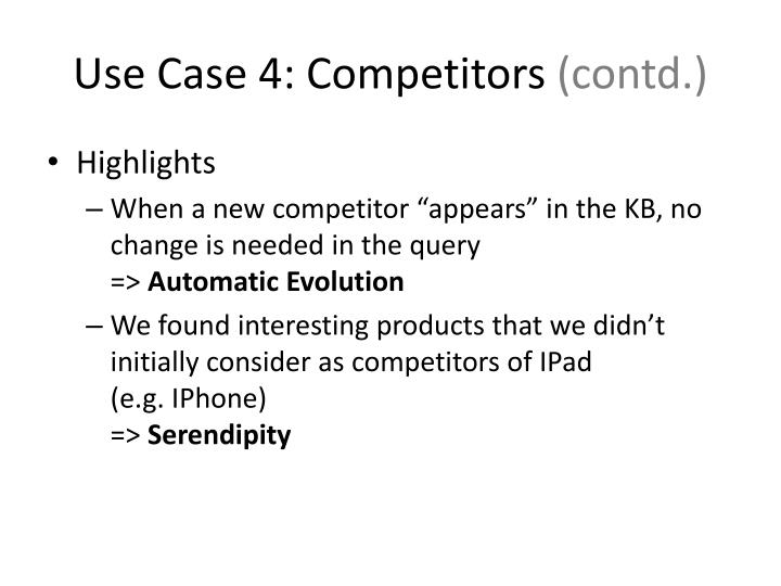 Use Case 4: Competitors