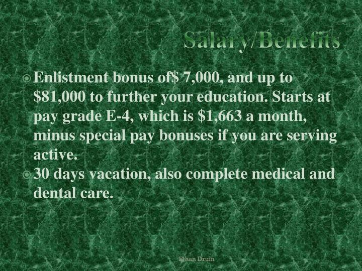 Salary benefits