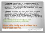 how kids bully each other in a high tech world