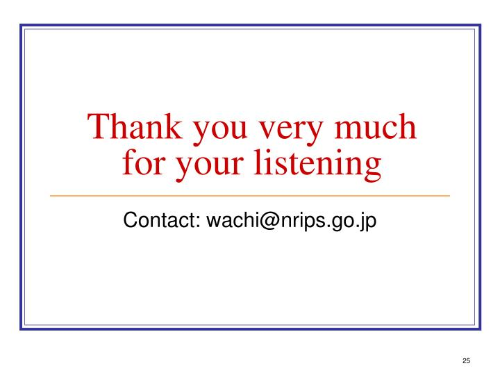 Thank you very much for your listening