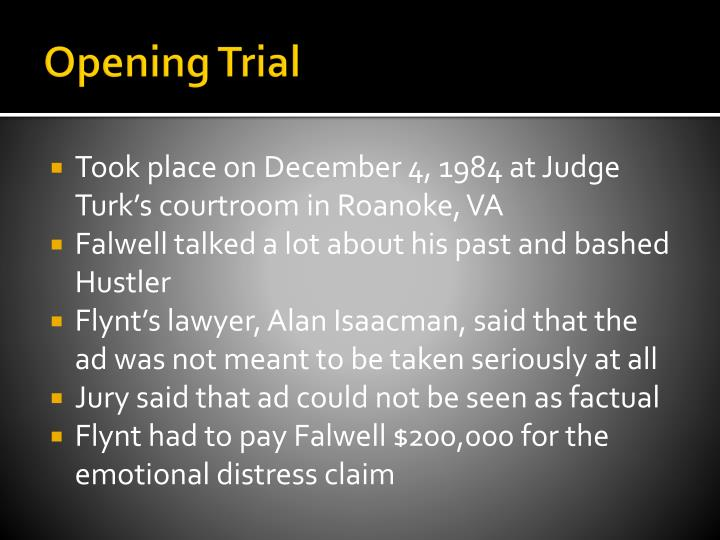 Opening Trial