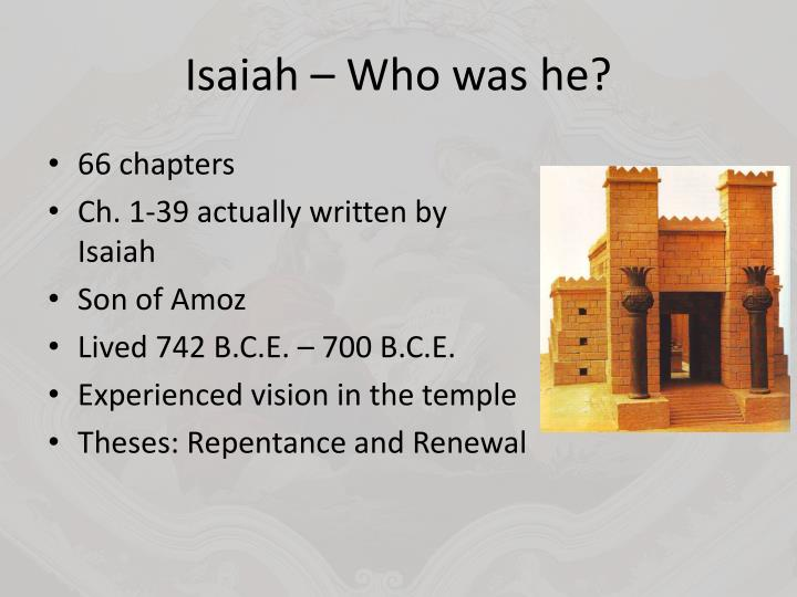 Isaiah – Who was he?