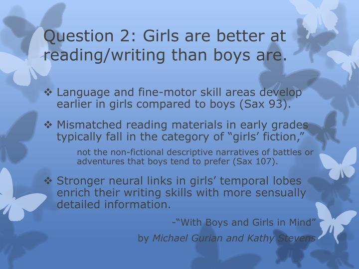 Question 2: Girls