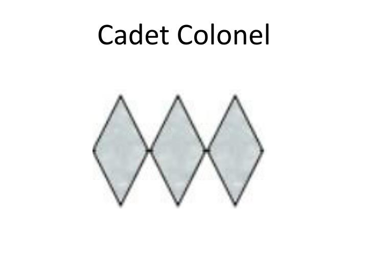 Cadet Colonel