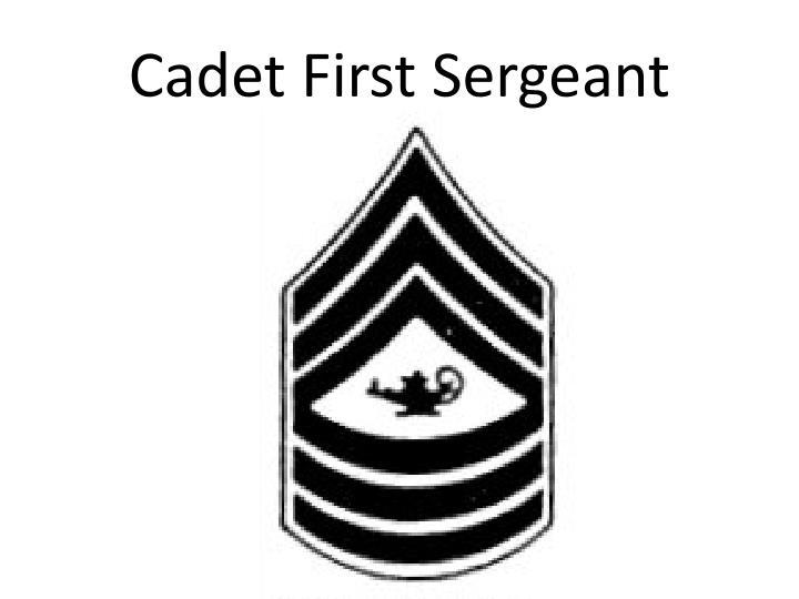 Cadet First Sergeant