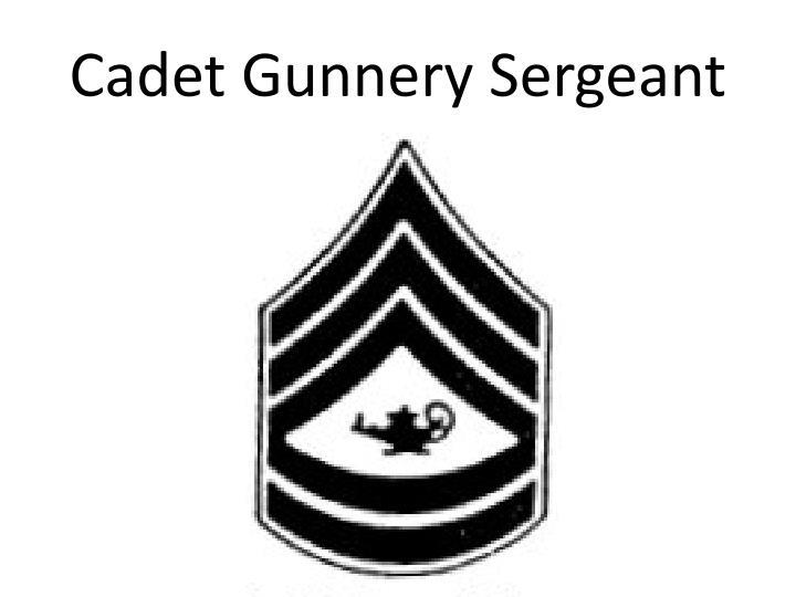 Cadet Gunnery Sergeant