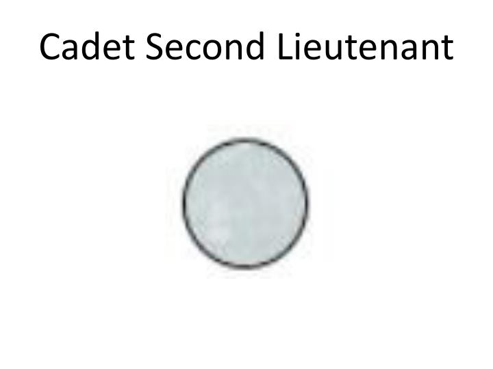 Cadet Second Lieutenant