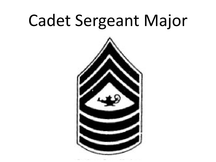 Cadet Sergeant Major