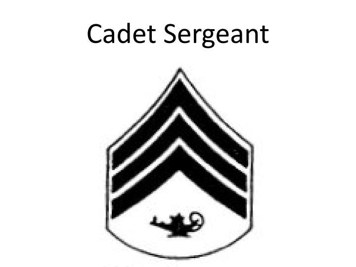 Cadet Sergeant