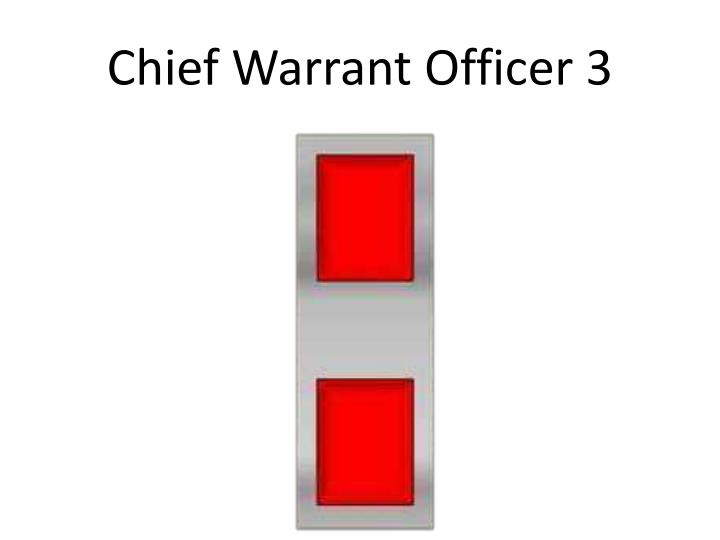 Chief Warrant Officer 3