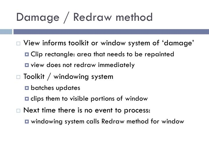Damage / Redraw method