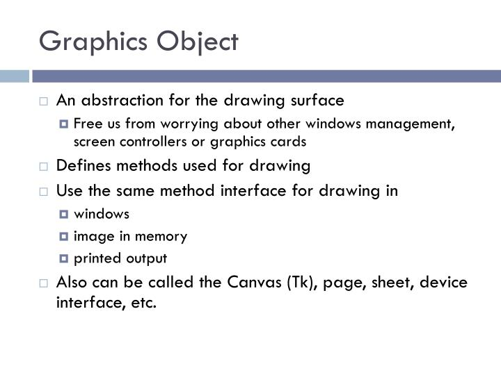 Graphics Object