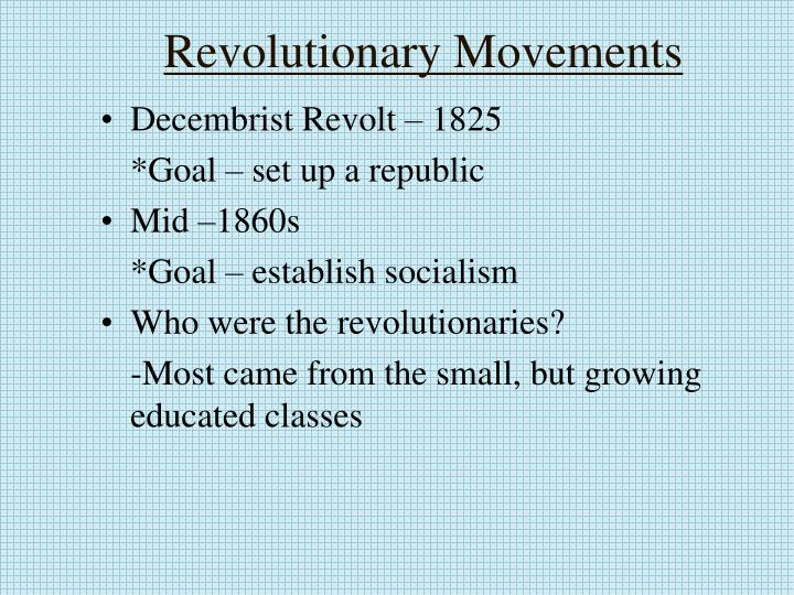 Revolutionary Movements