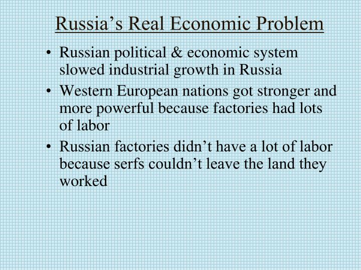 Russia's Real Economic Problem