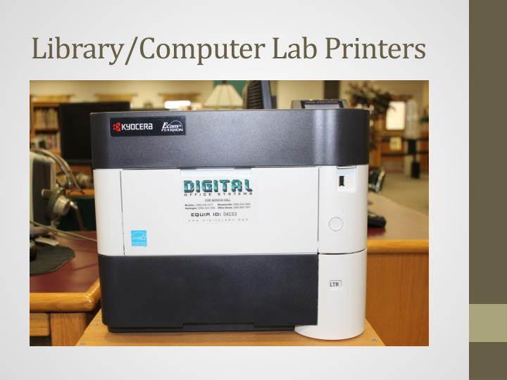 Library/Computer Lab Printers