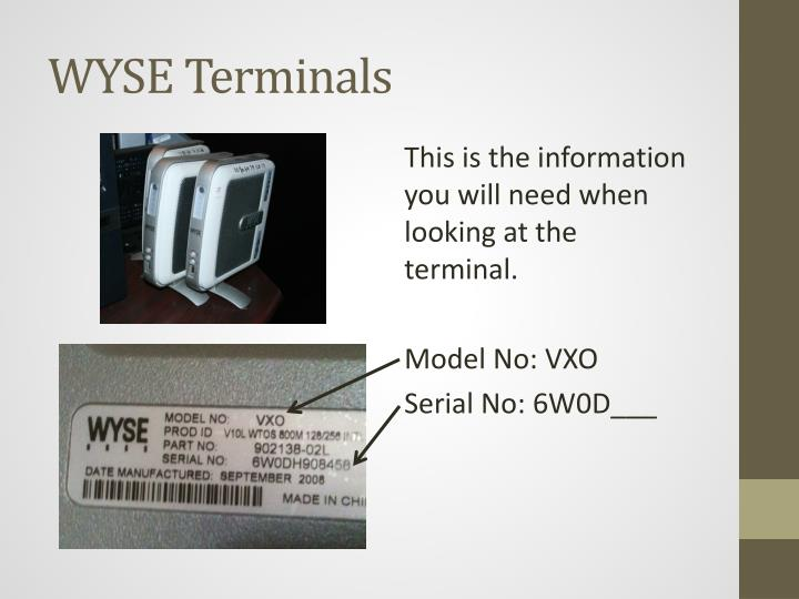 WYSE Terminals