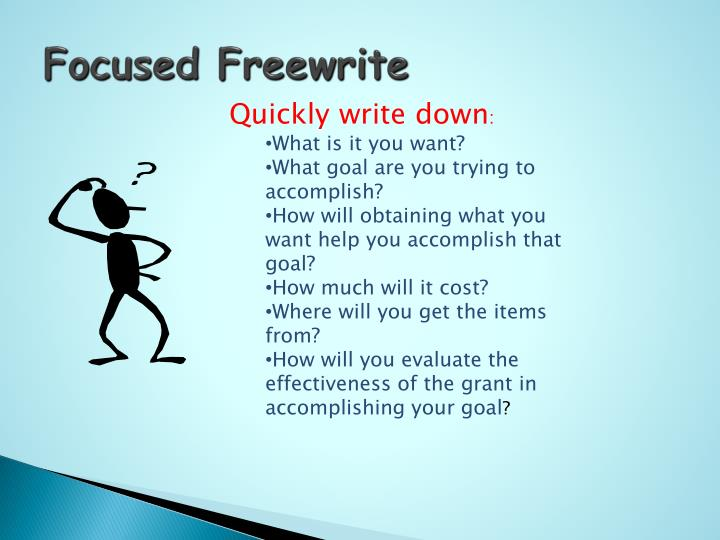 Focused Freewrite