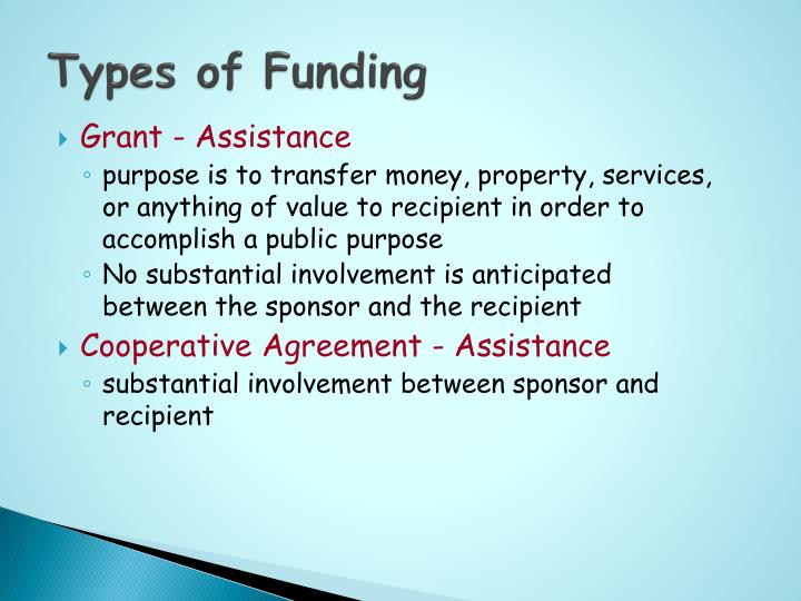 Types of Funding