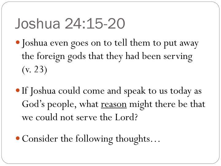 Joshua 24:15-20