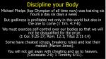 discipline your body