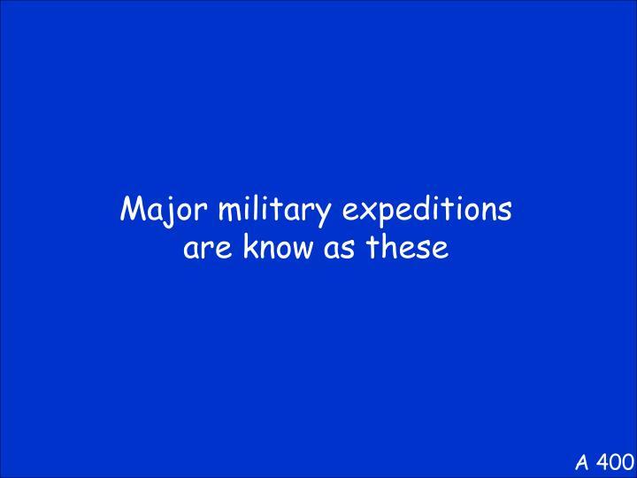 Major military