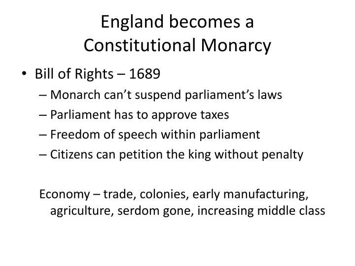 England becomes a