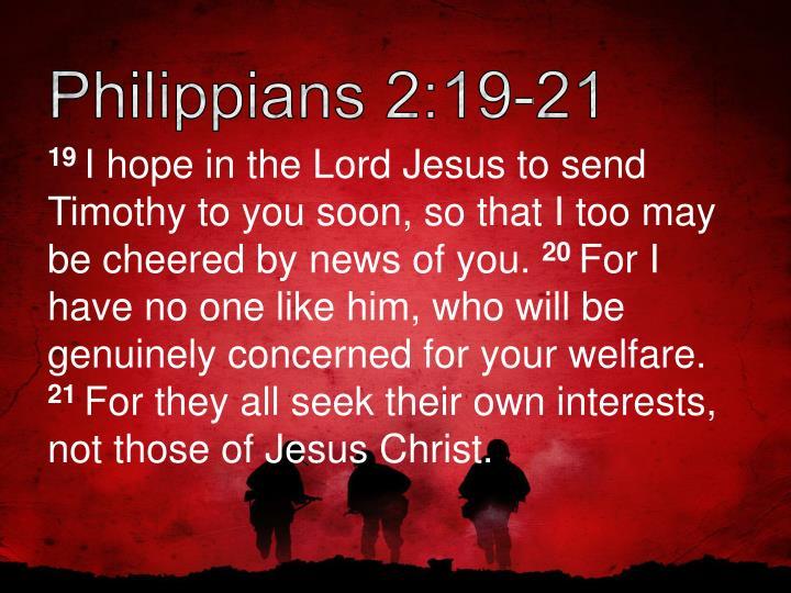 Philippians 2:19-21