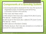 components of a queuing system6