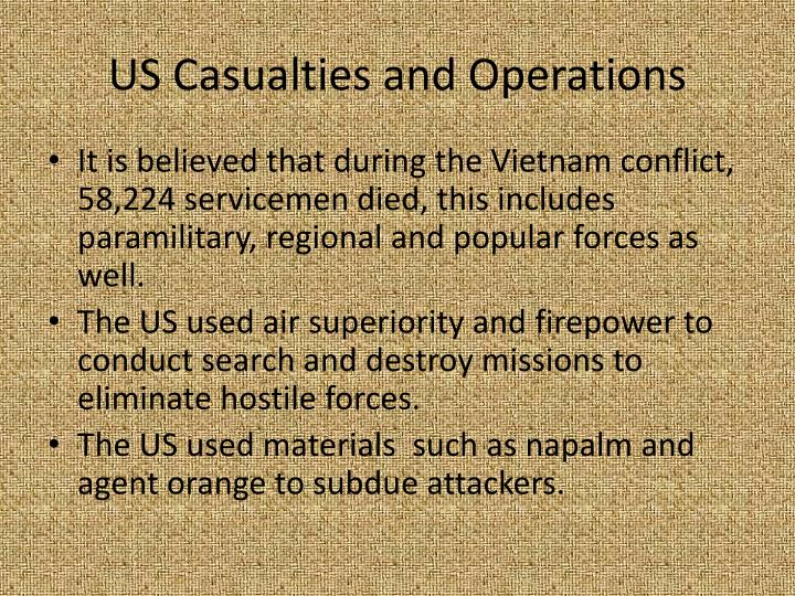 US Casualties and Operations
