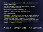 acts 8 simon and the eunuch
