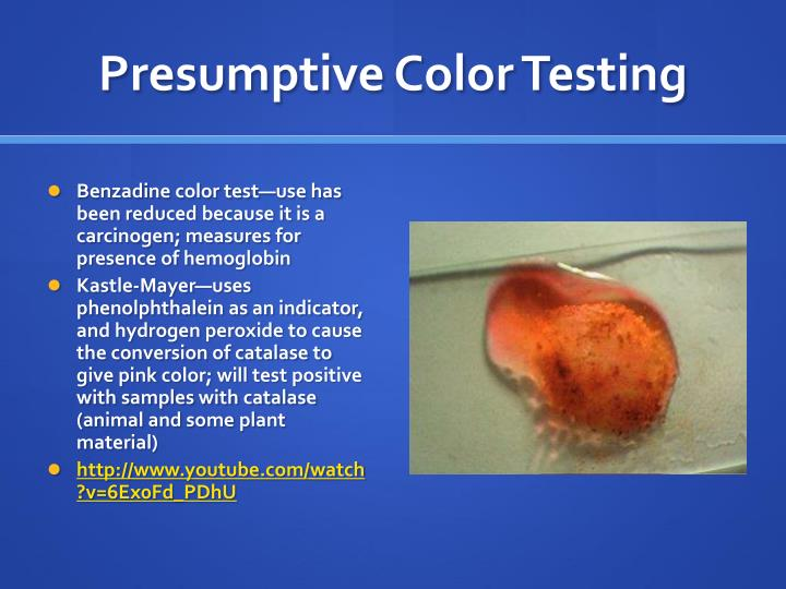 Presumptive Color Testing